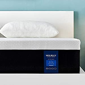 Molblly Double Mattress,Memory Foam Mattress,Breathable Mattress Medium Firm with Soft Fabric Fire Resistant Barrier…
