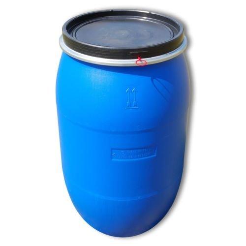 22119 - Bidón alimentario de polietileno (apertura total, 220 litros), color azul: Amazon.es: Bricolaje y herramientas
