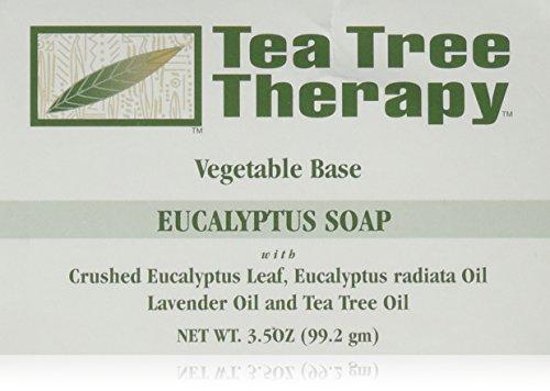 Tea Tree Therapy Vegetable Base Bar Soap, Eucalyptus, 6 C...