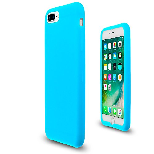 Baby Blue Soft Silicone Rubber Case Flexible Skin Jelly Cover for iPhone 7 Plus