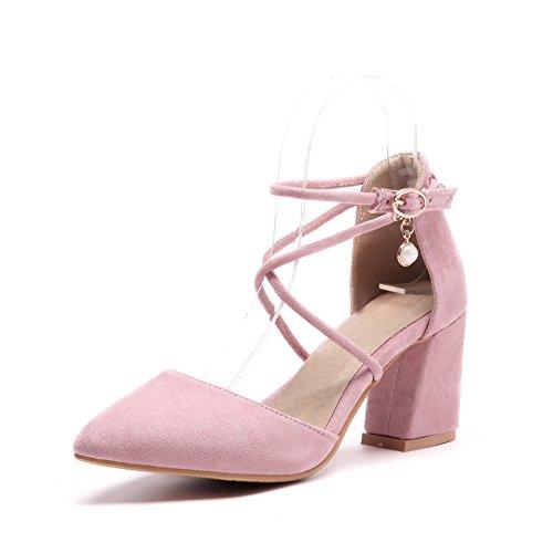 Pink amp;S alla Tacchi Donna MEI Cinturino Caviglia Punta Sandali 8BqdSpz