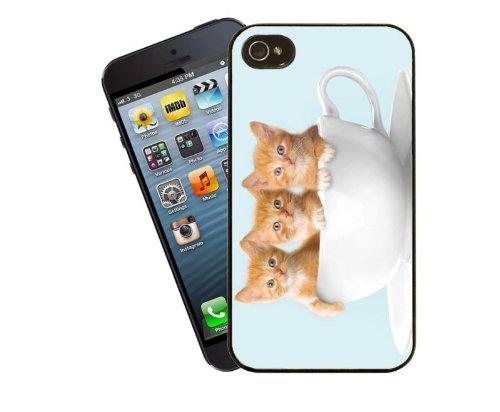 Coque chat mignon chaton roux - 16–Pour Apple iPhone 4/4s-Housse Par Eclipse idées cadeaux