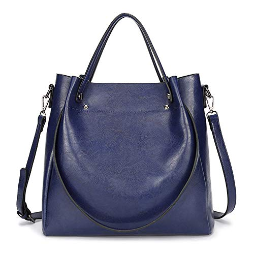 - Cawmixy Hobo Women Satchel Soft Shoulder Bags Classic Tote Ladies Purses Designer Woman Bags (New Blue)