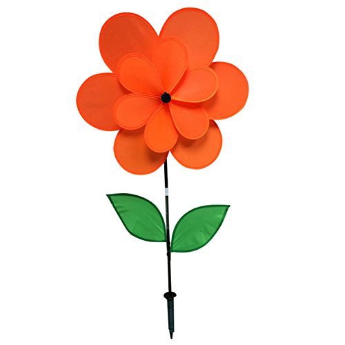 Orange Pinwheel (Gardener's Select A024A Double Petal Pin Wheel, Orange, 18 by 28