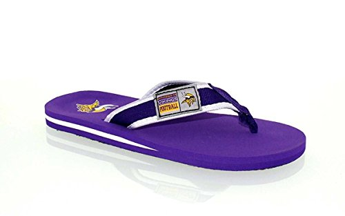 Forever Collectibles MNVCTRP-2 - Minnesota Vikings - Medium - Officially Licensed NFL Contour Flip Flop - Minnesota Vikings Shoe