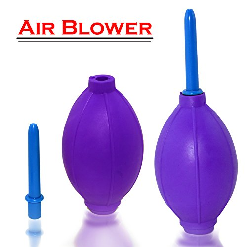 New Rubber Air Pump Cleaner Dust Blower for Keyboard,Digital SLR Camera, Lens, Watch, Cell Phone, Computer Laptop PC and Screen - Purple (Inflatable Television Screen)
