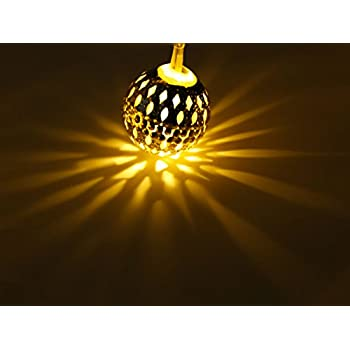 Led String Lights With 60 Moroccan Ball Lights Waynewon Decorative Lights Perfect For Festival Party Garden And Home Decoration