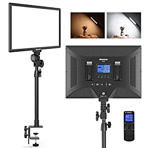 Best Epic Trends 41aZP2YHzxL._SS300_ Dazzne D50 Desk Mount Video Light with C-Clamp, LED Studio Photography Light with Wireless Remote, 15.4 Inches 45W 3000K…