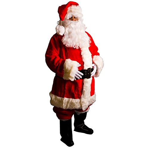 Professional Santa Claus Suit Adult Costume - Large