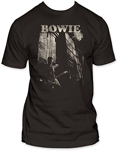 IDavid Bowie and Guitar T-shirt for Adults, L, XL