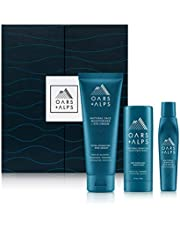 Oars + Alps Natural Skin Care Kit, Gift Set Including Face Wash, Eye Roller, and Moisturizer, Vegan and Gluten Free