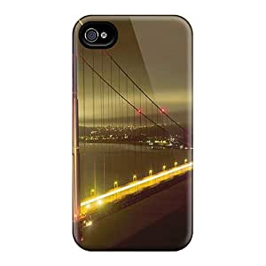 Iphone 4/4s Case, Premium Protective Case With Awesome Look - Golden Gate Night 2