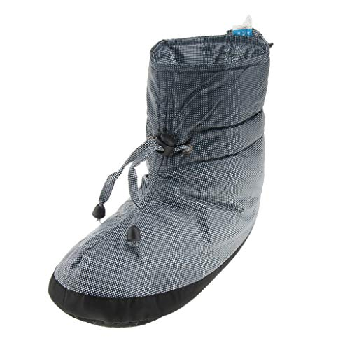 Prettyia Camping Slippers Warm Socks for Outdoors Indoors Warm Boots Men Women Winter Duck Down Booties Slipper Boots - Light Gray 25cm, 25cm