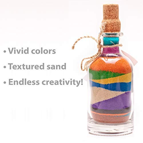 HeroFiber Craft Sand Art /— 9 Bottles 22 oz. ea. Wedding 12 Pounds 12 Funnels /— Decorative Scenic Rainbow Sand for Kids/' Play Unity Fun Colorful Sand Vase Filling