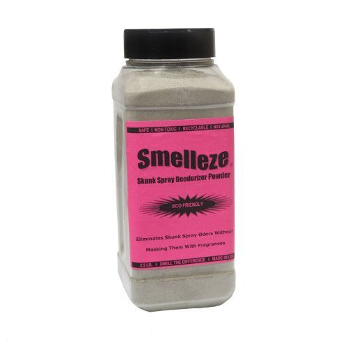 SMELLEZE Natural Skunk Smell Removal Deodorizer: 2 lb. Granules Get Stink Out by SMELLEZE