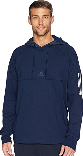 adidas Athletics Sport 2 Street Lifestyle Pullover Hoodie, Collegiate Navy/Small by adidas