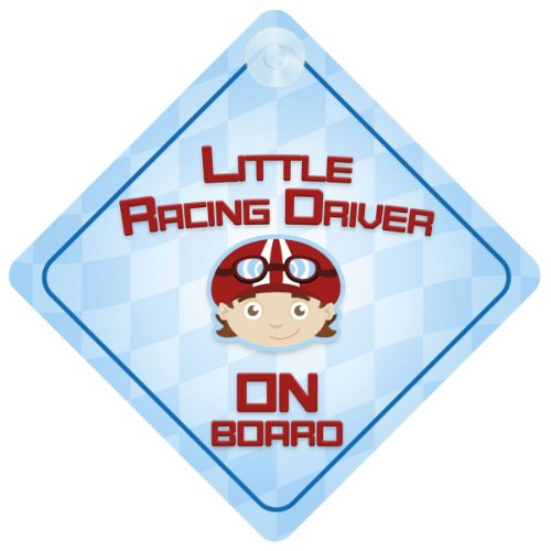 Little Racing Driver On Board Car Sign New Baby / Child Gift / Present / Baby Shower Surprise