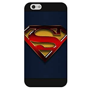 UniqueBox - Customized Personalized Black Frosted iPhone 6 4.7 Case, Superman Man Of Steel Logo iPhone 6 case, Only fit iPhone 6(4.7 Inch) Kimberly Kurzendoerfer