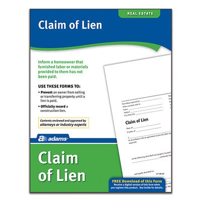 Claim of Lien Forms and Instruction (Set of 288) [Set of 6]
