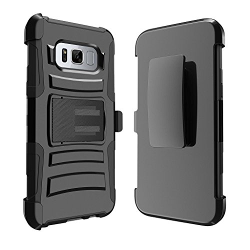 Rugged Heavy Duty Clip Cover for [Samsung Galaxy S8 Plus Holster Case  S8 Plus Case   SM-G955 Case][Clip Armor] With Kickstand and Holster Shell by MINITURTLE