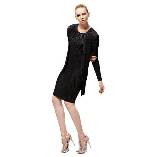 SPECCHIO PLEATS Women's Sequined Long Jacket One size Black by SPECCHIO PLEATS