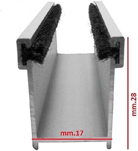 Coppia guida tapparella in alluminio mm.17 x mm.28 lunga cm.100 colore avorio AWITALIA