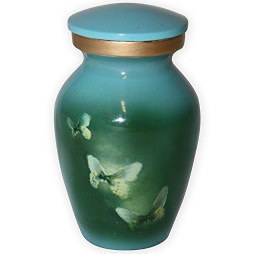 Beautiful Life Urns Butterflies in Flight Keepsake Urn for Ashes - Small Size - NOT Intended for Full Cremation Ash Quantity