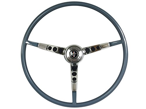 Ford Mustang Correct Reproduction 1965 Blue Steering Wheel with Horn Ring (Ford Mustang Horn)