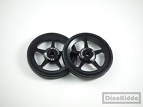 Negro aleación fácil ruedas + tornillos de titanio para Brompton ...
