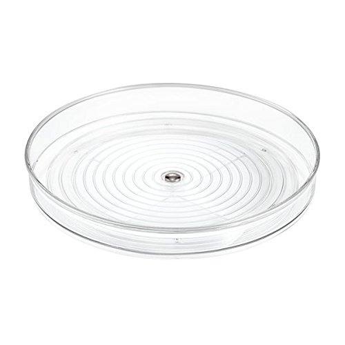 mDesign Lazy Susan Turntable Food Storage Container for Cabinets, Pantry, Refrigerator, Countertops, BPA Free - Spinning Organizer for Spices, Condiments, Baking Supplies - 9'' Round, Pack of 2, Clear by mDesign (Image #5)