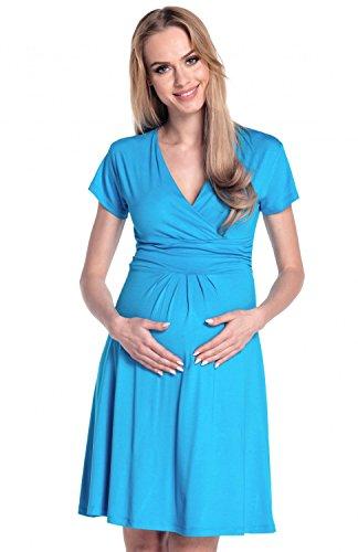 Happy Mama De Las Mujeres Maternidad Jersey Llamarada Bebé Ducha Vestido Corto Mangas 108 Cyan