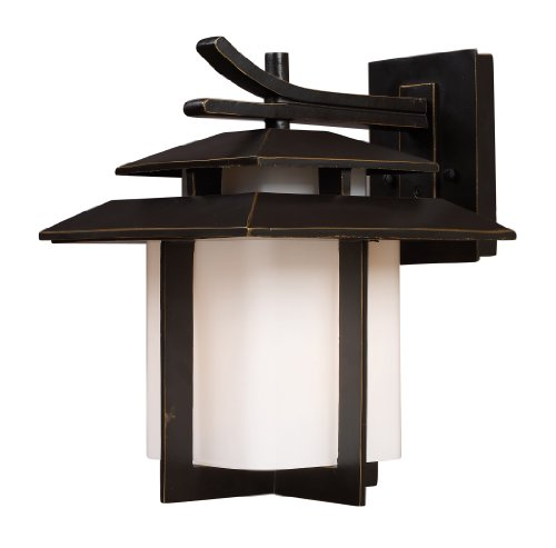 - Elk 42171/1 Kanso 1-Light Outdoor Sconce 10-Inch Width by 13-Inch Height in Hazelnut Bronze