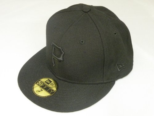 New Era MLB Pittsburgh Pirates Basic Black Black Cap 59Fifty