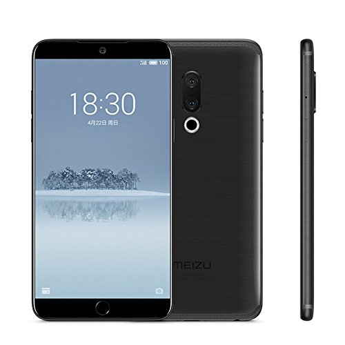 Unlocked Smartphone Meizu 15 Plus 4G LTE Cell phone 6G RAM 64GB ROM Exynos 8895 Octa Core 5.95' 2560×1440P Super AMOLED Screen Dual Rear Cameras Fingerprint Face Recognition Fast charger Mobile(Black)