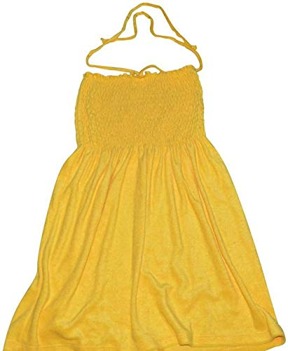 Juicy Couture Morning Sunshine Yellow Micro Terry Smoked Dress Cover-up XS ()
