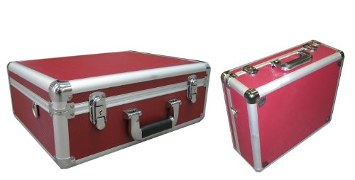 Red Aluminum Camera Case also for Tools and small Equipments With Foam Ship to Canada and - Canada Usps To Ship Will