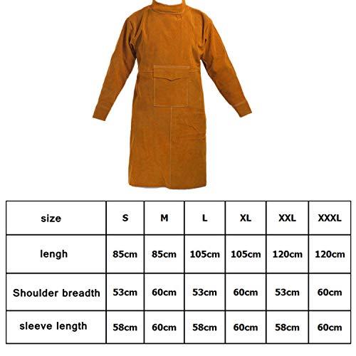 Cotton Album Quilt - Cowskin Leather Welding Apron Flame Retardant Long Sleeve Welder Protective Clothing Durable Wear-Resistant Anti-Scalding Aprons,Orange High Collar,M