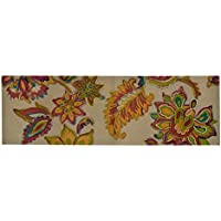 Spura Home 60 X 20 in. Red Floral Runner Design Printed Embroidered Rug