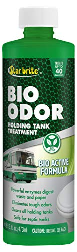 Star brite Star brite RV Bio Odor Holding Tank Treatment 4pk - Eliminate Clogs & Odors, Eco Enzynmes Digest Waste & Tissue, Black & Grey Water Tank Cleaner, Septic Tank Safe, ()