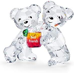 SWAROVSKI Kris Bear Family – Best Friends Crystal Figurine, 1 5 8 x 1 7 8 , White Crystal