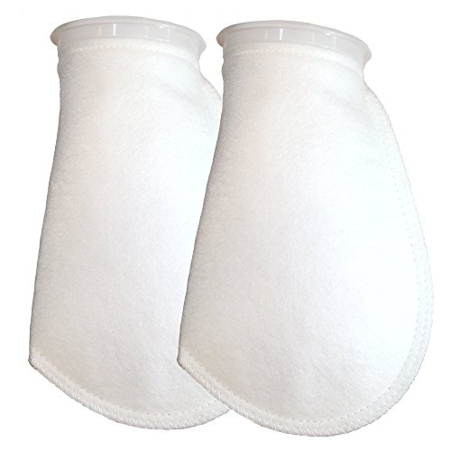 Filter Socks 100 Micron - 4 Inch Ring by 10.5 Inch Long - Medium- Aquarium Felt Filter Bags - Custom Made In The USA For Aquatic Experts (2 pack) (100 Micron Filter Media compare prices)
