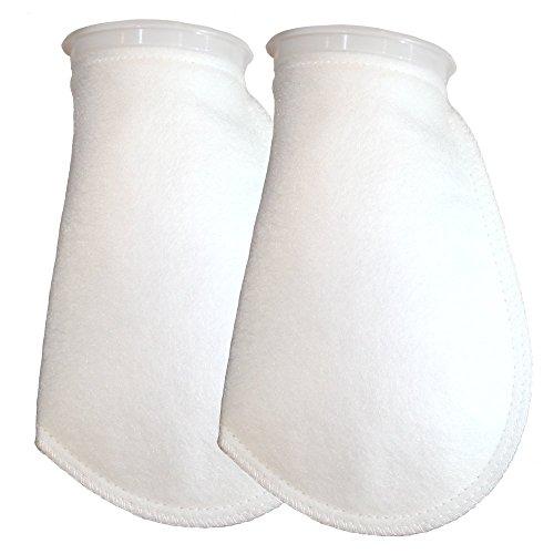 Carbon One Mini Pump (Aquarium Filter Socks 100 Micron 2 Pack - 4 inch Ring by 10.5 inch Long - Medium- Premium Aquarium Felt Filter Bags - Custom Made In The USA For Aquatic)