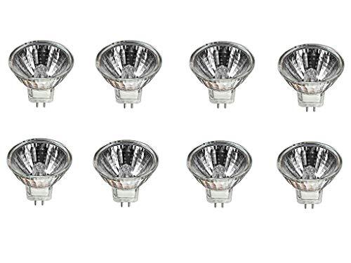 EBDcom Halogen Light Bulbs 8 Pack Halogen Lamp MR16 12 Volt 10Watt Halogen Bulbs for Landscape Light,School,Family,Tunnel Light