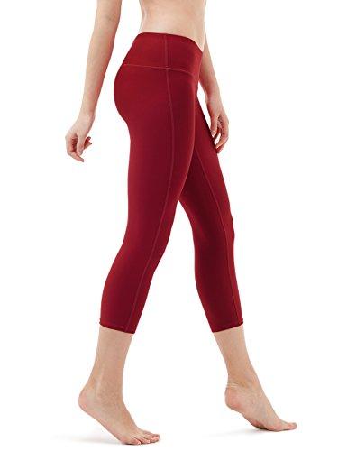 TSLA Yoga 21 Inches Capri Mid-Waist Pants w Pocket from TSLA