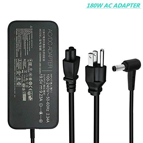 Adp New - New 180W 19.5V 9.23A ADP-180MB F, FA180PM111 AC Adapter Compatible Asus Rog G750JM G750JS G750JW G750JX G751JL G751JM G752VL G752VTG-Series Gaming Laptop Charger