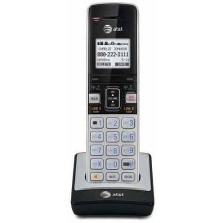 AT&T DECT 6.0 Accessory Handset with Caller ID/Call Waiting for , Silver/Black /Model:TL86003