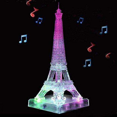 Singeek Eiffel Tower 3D Crystal Blocks With Music And Flash Diy Toy