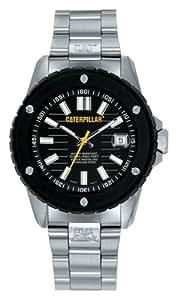 Caterpillar SHOCKMASTER CA1013 - Reloj de caballero de cuarzo, correa de acero inoxidable color plata