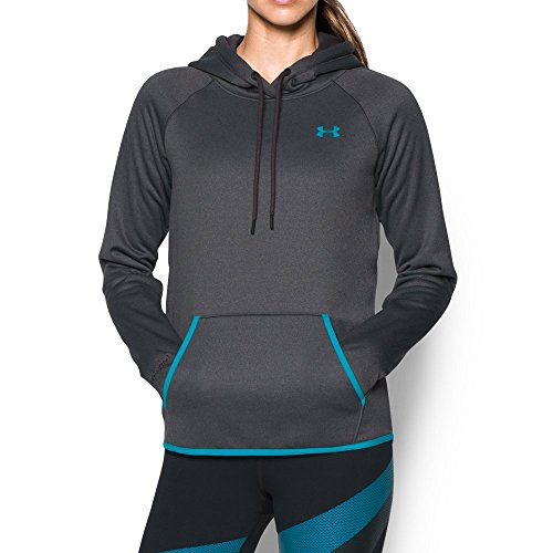 Under Armour Women's Storm Armour Fleece Icon Hoodie, Carbon Heather (092)/Deceit, X-Small