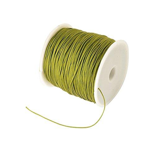 arricraft 1 Roll 0.5mm Braided Nylon Cord Imitation Silk String Thread for DIY Craft and Jewelry ()